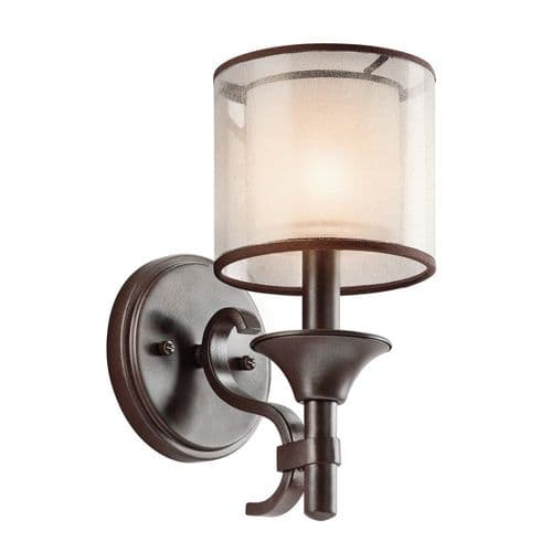 Kichler KL/LACEY1 MB Lacey 1 Light Wall Light Mission Bronze